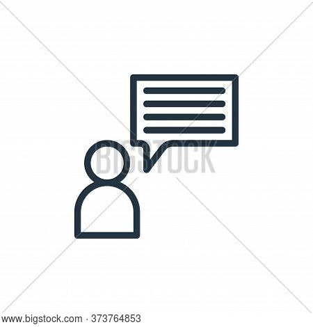 talk icon isolated on white background from business collection. talk icon trendy and modern talk sy
