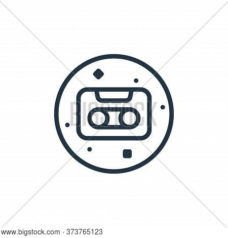 cassette tape icon isolated on white background from music and sound collection. cassette tape icon