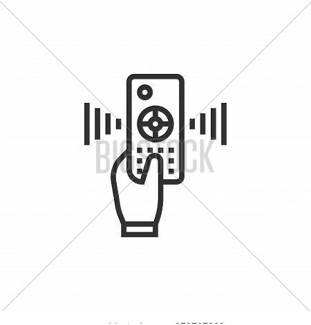 remote control icon isolated on white background from cinema collection. remote control icon trendy