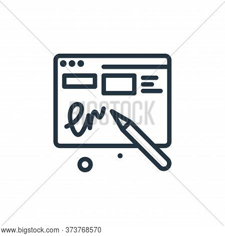 sign icon isolated on white background from work from home collection. sign icon trendy and modern s