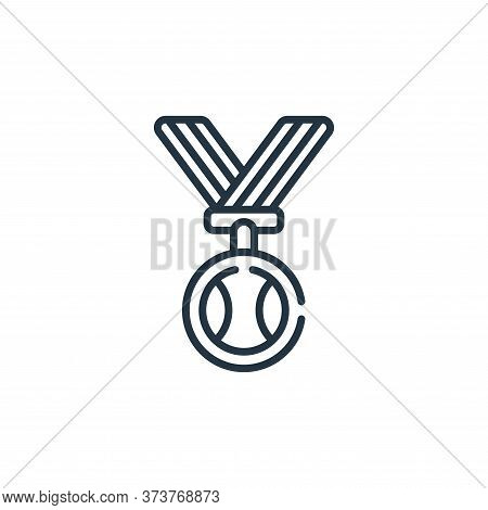 medal icon isolated on white background from baseball collection. medal icon trendy and modern medal