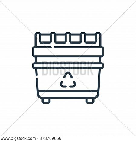 Recycling Bin Vector Icon From Plastic Products Collection Isolated On White Background