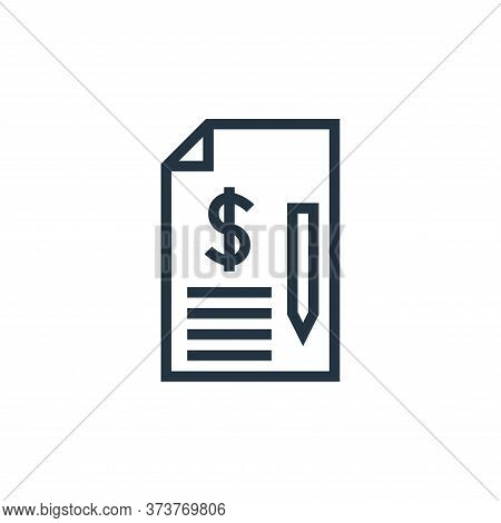agreement icon isolated on white background from finance collection. agreement icon trendy and moder