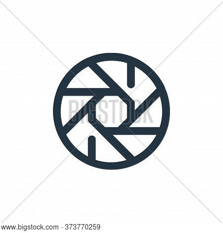 shutter icon isolated on white background from video collection. shutter icon trendy and modern shut