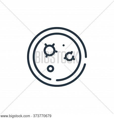 petri dish icon isolated on white background from virus transmission collection. petri dish icon tre