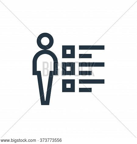 skills icon isolated on white background from job resume collection. skills icon trendy and modern s