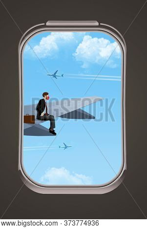 In A Spoof On Social Distancing And Air Travel During Coronavirus, A Passenger Gets Away From The Cr