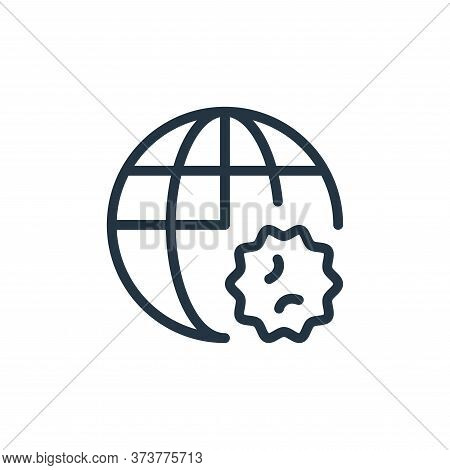 global icon isolated on white background from coronavirus collection. global icon trendy and modern