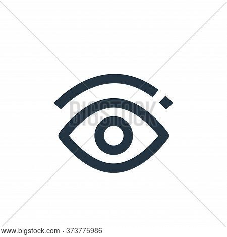 eye icon isolated on white background from medical collection. eye icon trendy and modern eye symbol