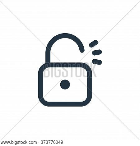 unlock icon isolated on white background from interface collection. unlock icon trendy and modern un