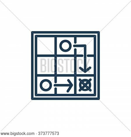 game strategy icon isolated on white background from chess game collection. game strategy icon trend