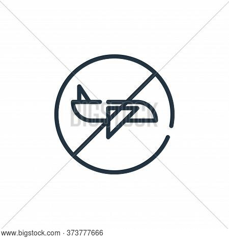 travel icon isolated on white background from symptoms virus collection. travel icon trendy and mode