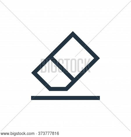 Eraser Vector Icon From Text Editor Collection Isolated On White Background