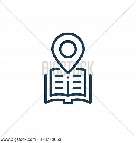location icon isolated on white background from online learning collection. location icon trendy and