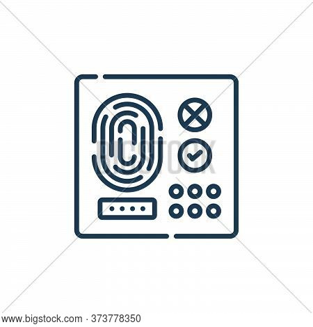access icon isolated on white background from hacker collection. access icon trendy and modern acces