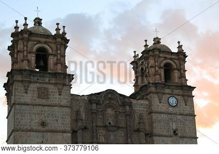 The Cathedral Of Puno On Lake Titicaca