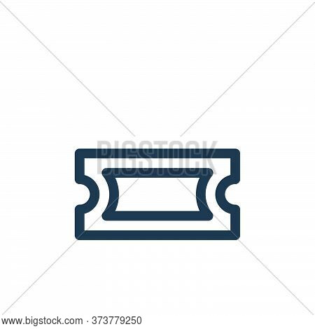ticket icon isolated on white background from music collection. ticket icon trendy and modern ticket