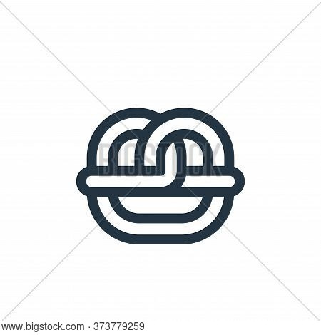 Pretzel Vector Icon From Europe Collection Isolated On White Background