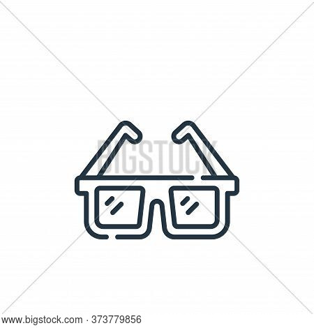 sunglasses icon isolated on white background from fame collection. sunglasses icon trendy and modern