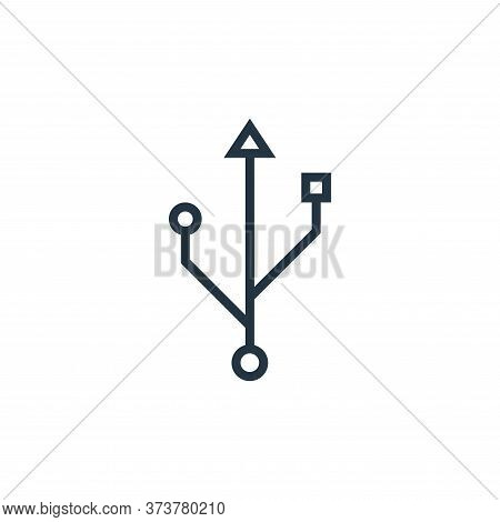 usb icon isolated on white background from hardware collection. usb icon trendy and modern usb symbo