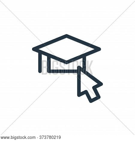 graduation icon isolated on white background from online learning collection. graduation icon trendy