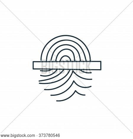fingerprint scanning icon isolated on white background from technology collection. fingerprint scann
