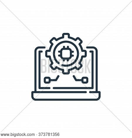 settings icon isolated on white background from robotics collection. settings icon trendy and modern
