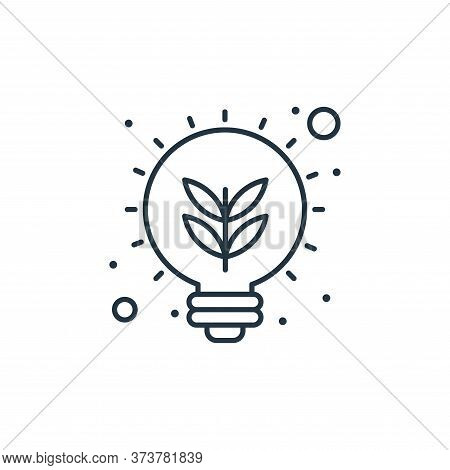 eco bulb icon isolated on white background from earth day collection. eco bulb icon trendy and moder