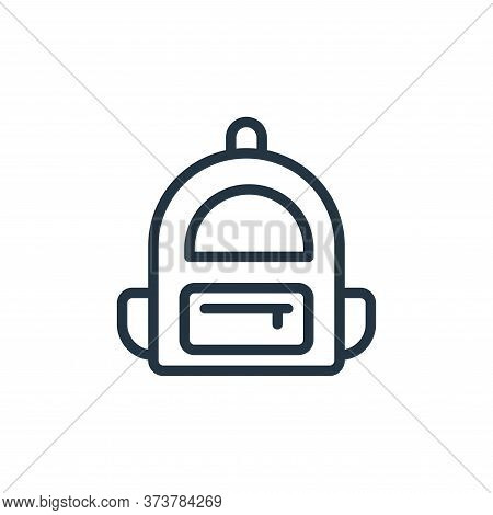 backpack icon isolated on white background from school collection. backpack icon trendy and modern b