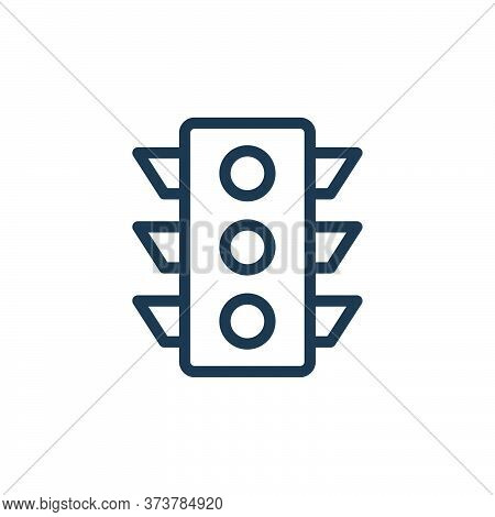 traffic signal icon isolated on white background from navigation collection. traffic signal icon tre