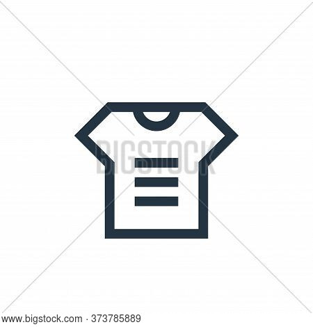t shirt icon isolated on white background from advertisement collection. t shirt icon trendy and mod