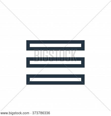 justify text icon isolated on white background from text editor collection. justify text icon trendy