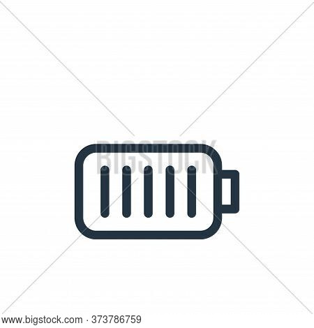 battery icon isolated on white background from electronics collection. battery icon trendy and moder