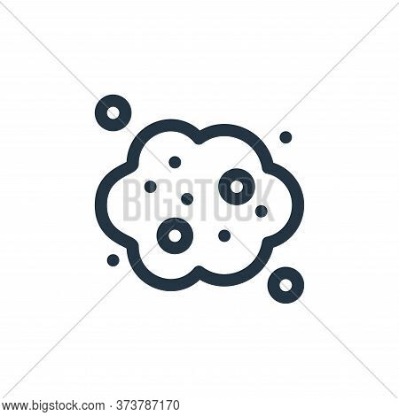 CO cloud icon isolated on white background from climate change collection. CO cloud icon trendy and