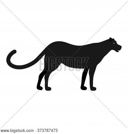 Silhouette Of Panther, Lion, Jaguar  Puma, Leopard And Tiger. Wild Animal Logo Vector Illustration I