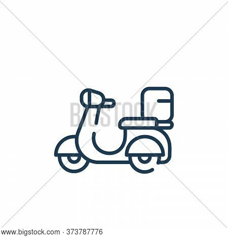 motorbike icon isolated on white background from delivery collection. motorbike icon trendy and mode