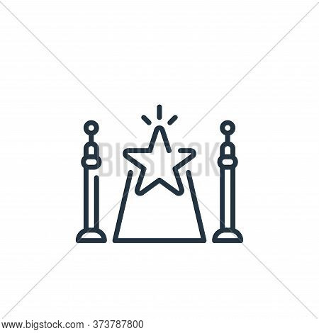 Red Carpet Vector Icon From Fame Collection Isolated On White Background