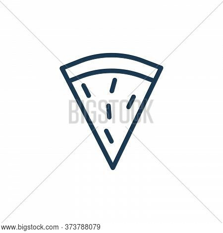 pizza slice icon isolated on white background from food collection. pizza slice icon trendy and mode