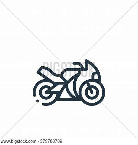 motorbike icon isolated on white background from autoracing collection. motorbike icon trendy and mo