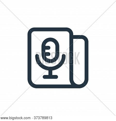 microphone icon isolated on white background from web apps seo collection. microphone icon trendy an