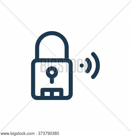 smart lock icon isolated on white background from internet of things collection. smart lock icon tre