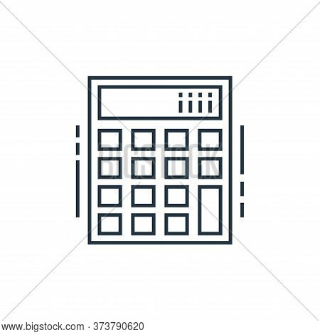 calculator icon isolated on white background from technology devices collection. calculator icon tre