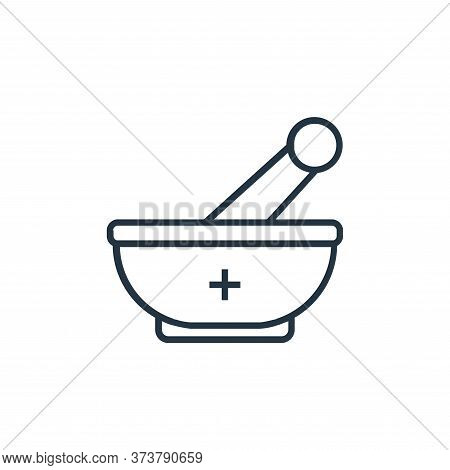 mortar icon isolated on white background from medical tools collection. mortar icon trendy and moder