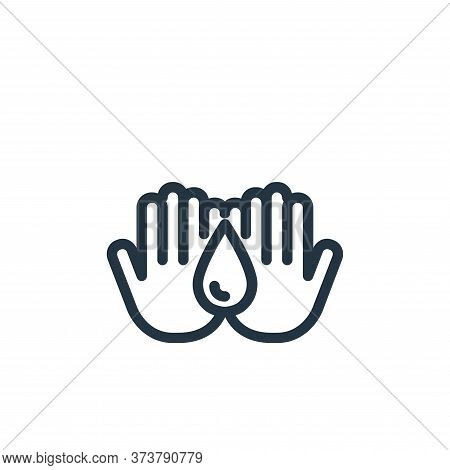 hand washing icon isolated on white background from coronavirus collection. hand washing icon trendy