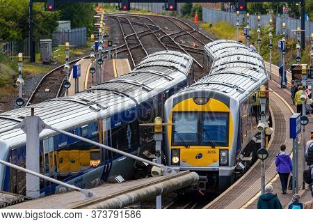 Belfast, Northern Ireland, Uk - July 31, 2019: The Great Victoria Street Train Station In Belfast, N