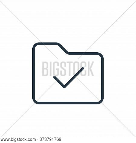 checklist icon isolated on white background from folder collection. checklist icon trendy and modern