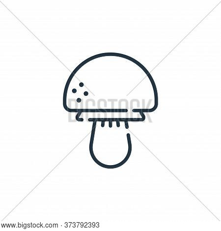 mushroom icon isolated on white background from allergies collection. mushroom icon trendy and moder
