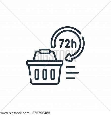 hours icon isolated on white background from delivery collection. hours icon trendy and modern hours