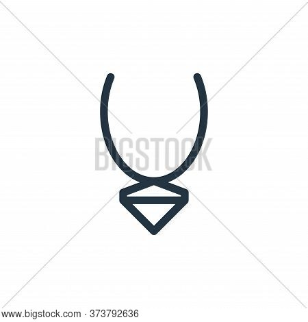 necklaces icon isolated on white background from fashion collection. necklaces icon trendy and moder