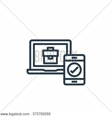checking icon isolated on white background from work from home collection. checking icon trendy and